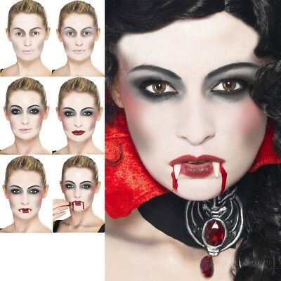 Vampir Make Up Kit Fx Dracula Gesichtsfarbe Halloween Kostüm Neu