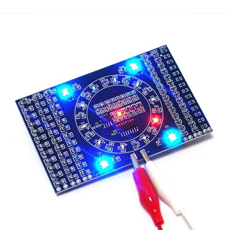 DIY SMD Rotating LED Components Soldering Practice Board Skill Training DIY Kits