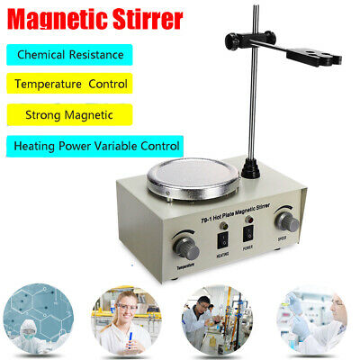 79-1 Magnetic Stirrer With Heating Plate Digital Hotplate Mixer Stir Bar 1000ml