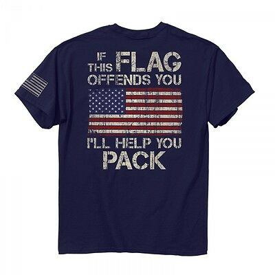 New If The Flag Offends You Ill Help You Pack T Shirt