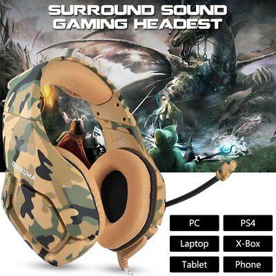 ONIKUMA K1 3.5mm Gaming Headset Mic Surround Stereo Headphone PS4 New Xbox One