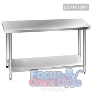 304 Stainless Steel Kitchen Work Bench Table 1524mm North Melbourne Melbourne City Preview