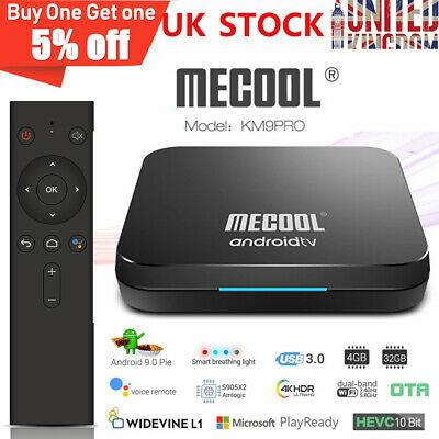 MECOOL KM9 Pro Android 9.0 TV BOX 4GB+32GB S905X2 Media Player Dual Wifi BT4.0