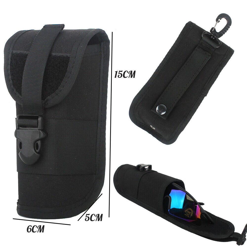 Tactical MOLLE Portable Eyeglasses Bag Sunglasses Portable Pouch Hanging Storage Hunting
