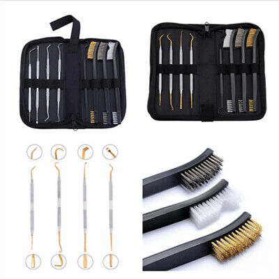Stainless Steel Gunsmith Armorer Set Rifle Cleaning Picks & Double-End Brush