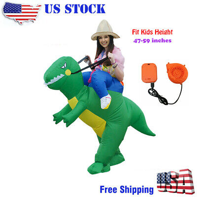 Inflatable Riding Dinosaur Costume Halloween Fancy Dress party for 47-59inch