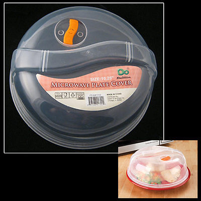 Plastic Microwave Plate Cover Clear Steam Vent ...