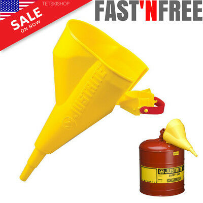 Metal Safety Can Funnel Spout Polyethylene Plastic For Gas Fuel Dispensing New