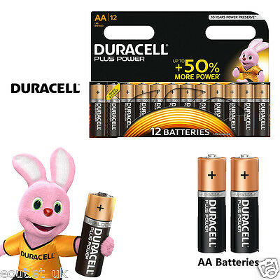 Duracell MN1500B12 Plus Power AA Size Batteries Alkaline Pack of 12 10 Battery Duracell Power Pack