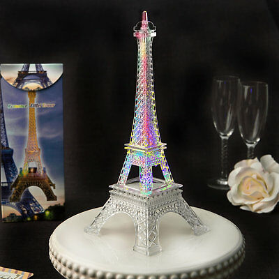 Light Up LED Eiffel Tower Wedding Table Centerpieces  - Eiffel Tower Table Centerpieces