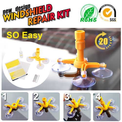 Windscreen Windshield Repair Tool Set DIY Car Kit Wind Glass For Chip Crack Fix