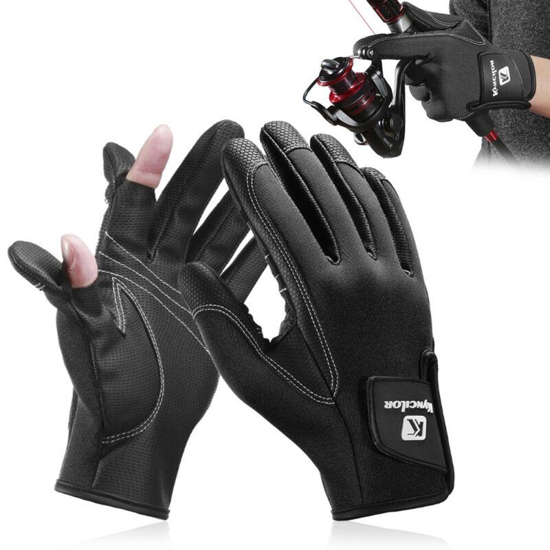 Winter Fishing Gloves Men Women 2 Cut Half-Finger Flexible Anti-Slip Waterproof