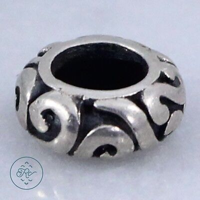 Sterling Silver   PERSONA Scroll Spacer Bead 1g   Charm Pendant GT0503