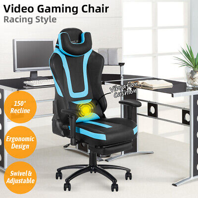 Gaming Racing Chair High Back Office Computer Desk Seat Recliner Footrest Swivel