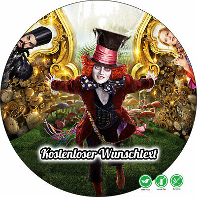 tstag Tortenbild Zuckerbild Disney Alice im Wunderland 05 (Alice Im Wunderland Geburtstag)