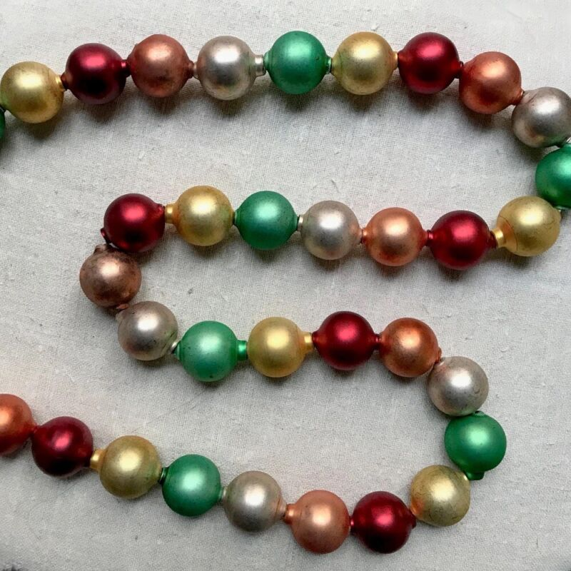 New Cody Foster Glass Ball Garland In Classic Vintage Colors.