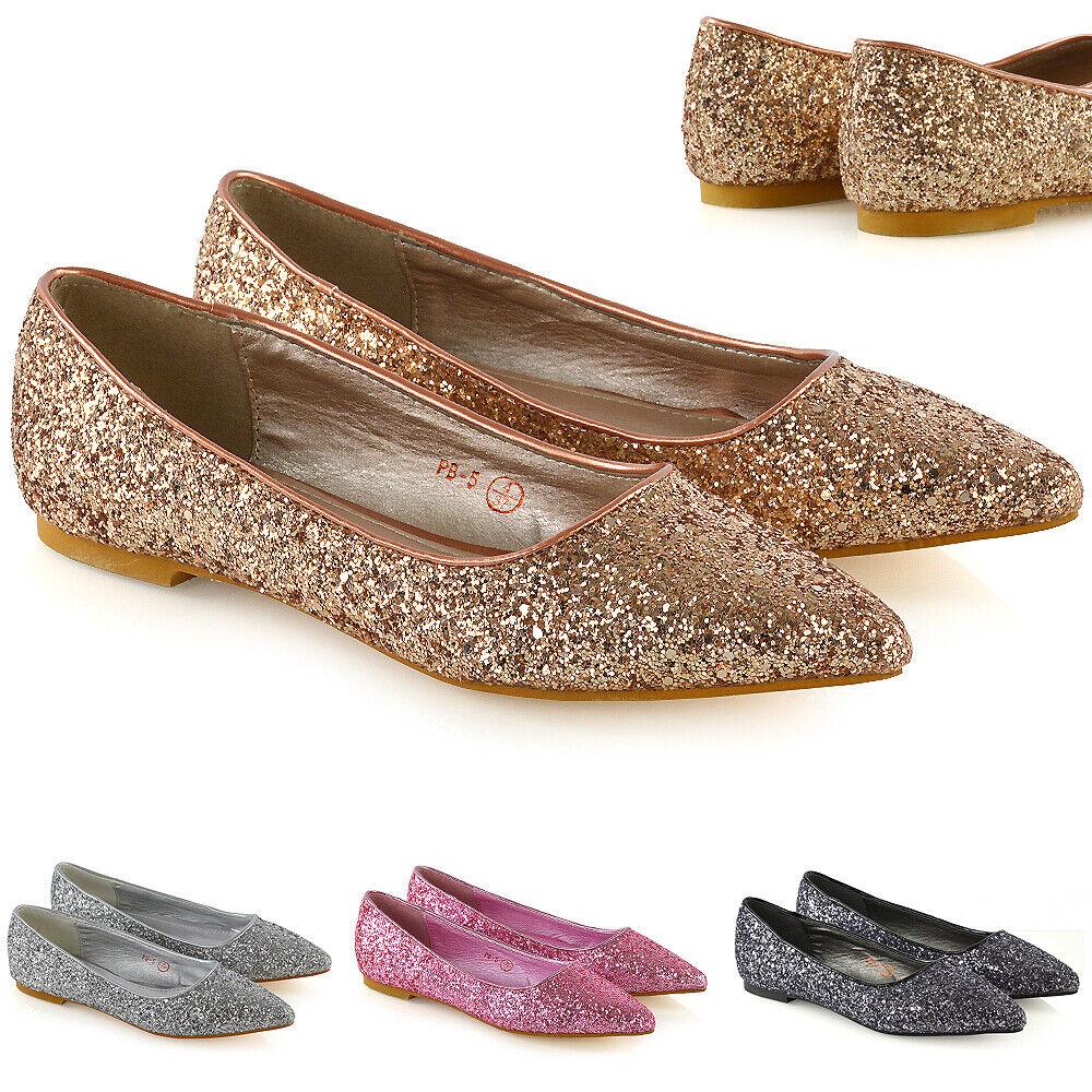 Aldo Womens Pigovia Ballet Flats Silver