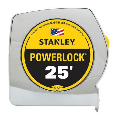 PowerLock Tape Measure 25 Ft. x 1 In. Accurate Made in the USA Durable With Hook Stanley Powerlock Tape Measure