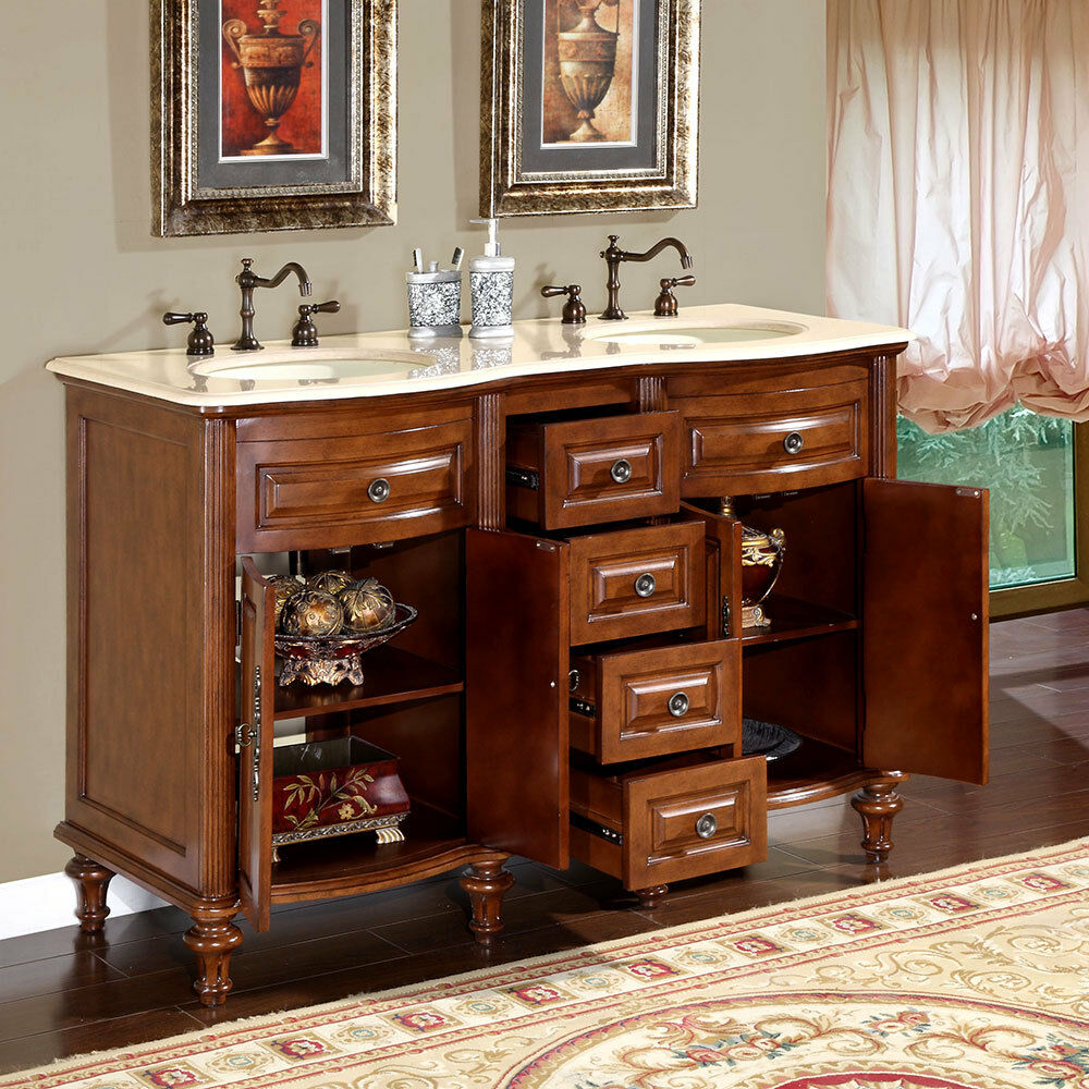 55 inch double sink bathroom vanity 55 inch marble top sink bathroom vanity 24781