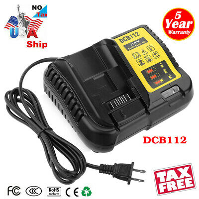 FOR Dewalt 12 Volt & 20 Volt Max Lithium Battery Charger Model DCB112 12V - 20V (Dewalt 12 Volt Lithium Battery)
