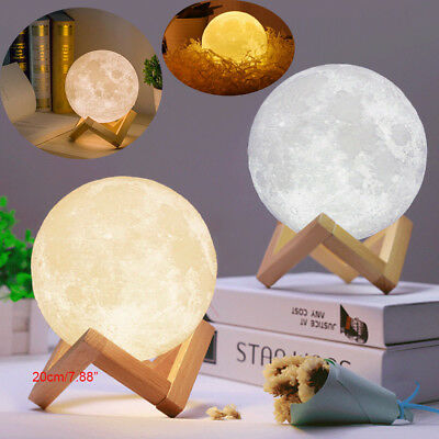 3D USB LED Magical Moon Night Light Moonlight Table Desk Moon Lamp Home Decor - Led Table Decorations