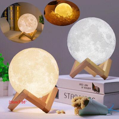 3D USB LED Magical Moon Night Light Moonlight Table Desk Moon Lamp Home Decor CN