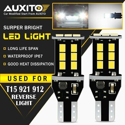 AUXITO T15 921 912 LED Reverse Backup Lights for Toyota Camry Corolla Tacoma 15E