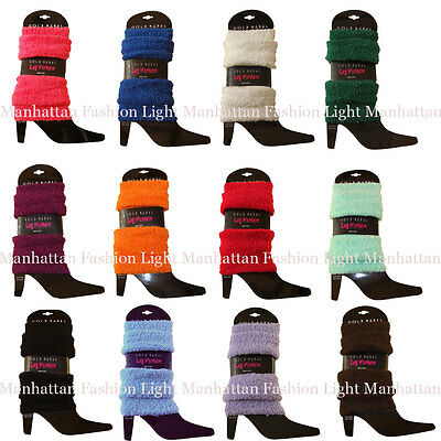 Choose a Color! Stretchy,Soft & Cozy,Fuzzy Leg Warmers White,Blue,Pink,Brown](Colorful Leg Warmers)