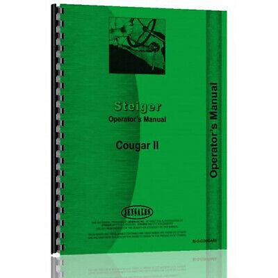 Tractor Operator Manual For Steiger Cougar Si-o-cougarii