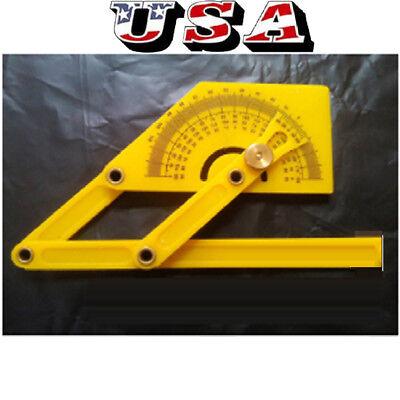 Plastic 180 Degree Protractor Angle Finder Miter Gauge Arm Measuring Ruler Us