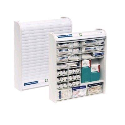 Verbandschrank Rollmed®, Betriebs-Verbandschrank,weiß, befüllt mit DIN 13157