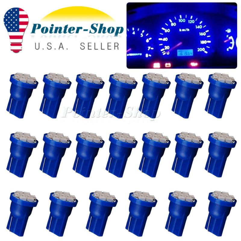 20x Blue T10 8SMD Led Interior Instrument Panel Light Bulbs W5W 158 168 192 194