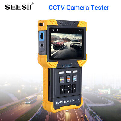 4K HD 1080P IP CCTV Camera Tester Security Combine Test Monitor 4 Inch PTZ PoE