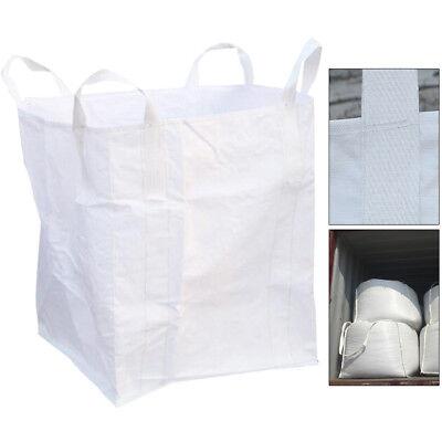 1 Ton Bulk Bag Builders Rubble Sack FIBC Jumbo Waste Storage Flat Bottom