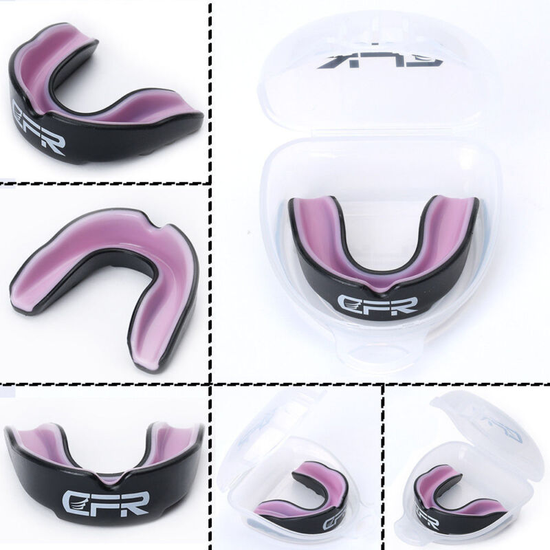 Gel Gum Shield Mouth Guard Case Teeth Grinding Boxing MMA Sports for Kids//Adults