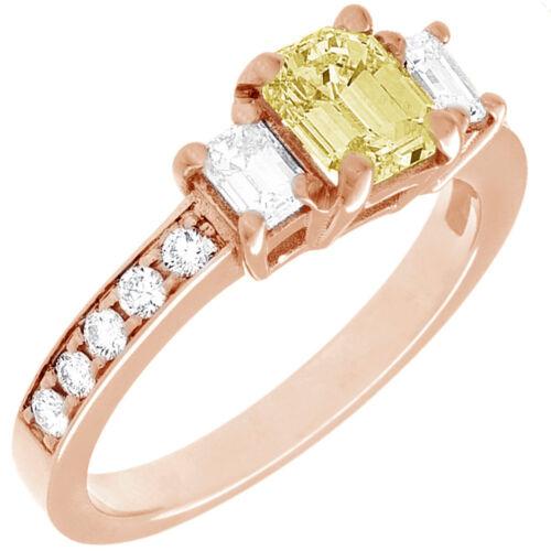 Diamond Engagement Ring GIA Certified Fancy Yellow Emerald Cut 18k Gold 2.31 CT 7