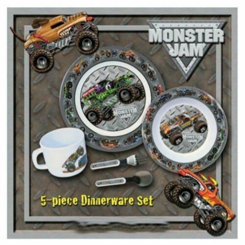 hot wheels Monster Jam 5 Piece Dinnerware Set plate set gift set