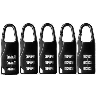 5set Mini 3 Digit Resetable Combination Travel Luggage Suitcase Lock Padlock - Mini Padlock Set