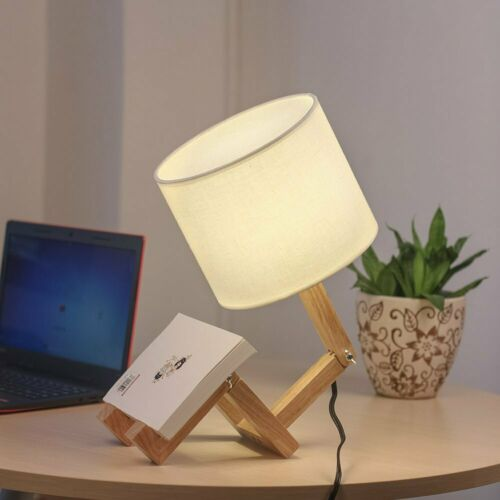 HAITRAL Adjustable Lamp Human-shaped Wooden Table Lamp Trans