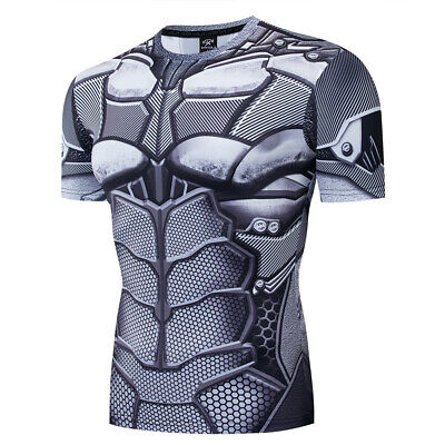 Superhero Avengers Marvel Men Gym T Shirt Compression Top Muscle Cosplay Shirt