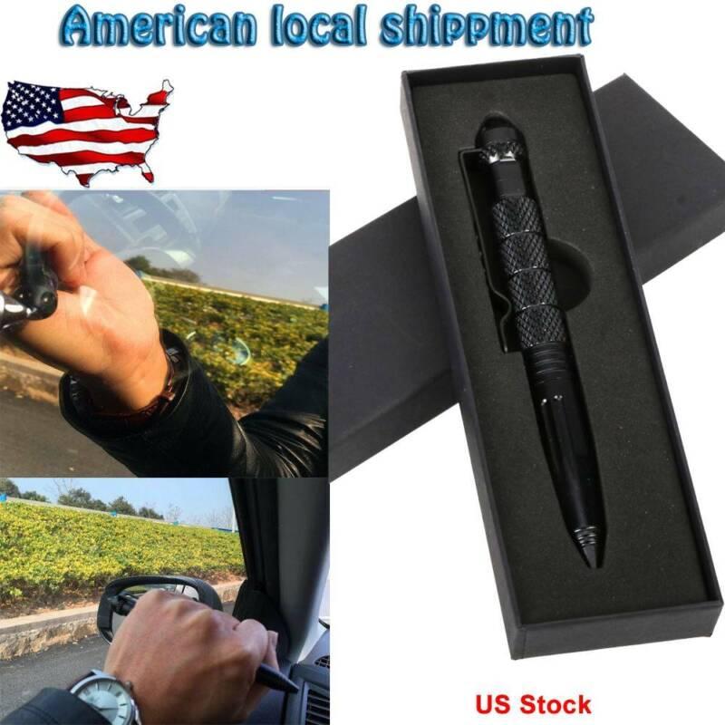 "Tactical Pen 6"" Aluminum Glass Breaker Multifunction Tools S"