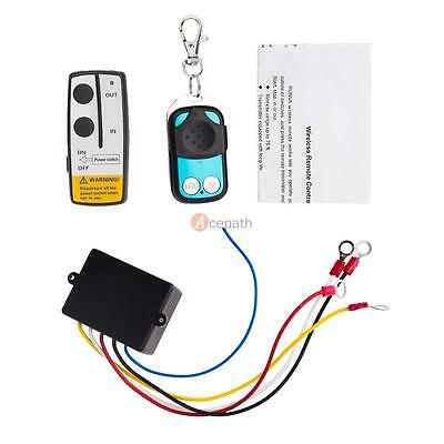 Wireless Winch Remote Control Kit 50FT For Car Jeep ATV Warn Ramsey Superwinch