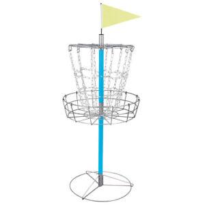 Disc Golf Goal Basket Practice Frisbee Game Target Cross Chain Outdoor Portable