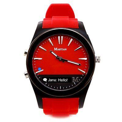 NEW Martian Watches Notifier Smartwatch Red Watch MN200RBR