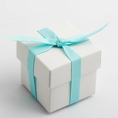 White lino bianco wedding christening favour box idea - 7 styles available ](Christening Favor Ideas)