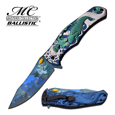 Master Collection Fantasy Mermaid Sculpture Spring Assisted Knife Razor Sharp