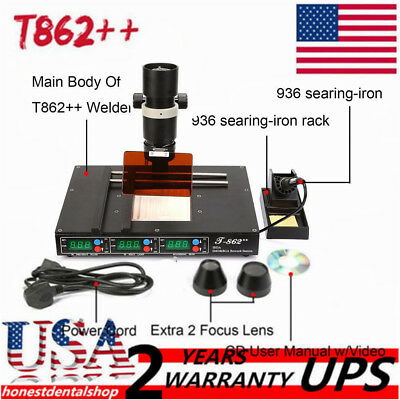 T862 Ir Bga Irda Infrared Rework Machine Smd Smt Desoldering Rework Station Us