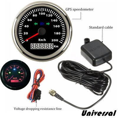 85mm 200km/h Motorcycle GPS Speedometer Odometer Boat Car Waterproof Universal