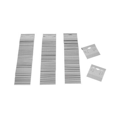 100 Pc Grey Plastic Earring Card 2 X 2 Hang Jewelry Display Plain Cards Retail