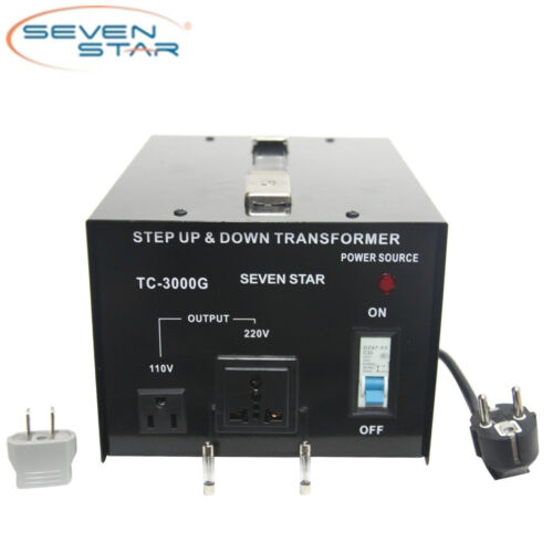 SevenStar TC-3000 Watt 110V-220 Volt Up/Down Transformer Heavy-Duty Converter